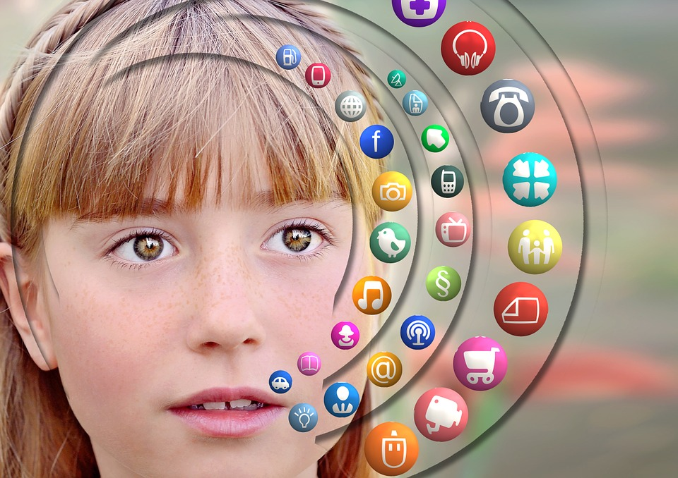 Children obsessing with technology and social media